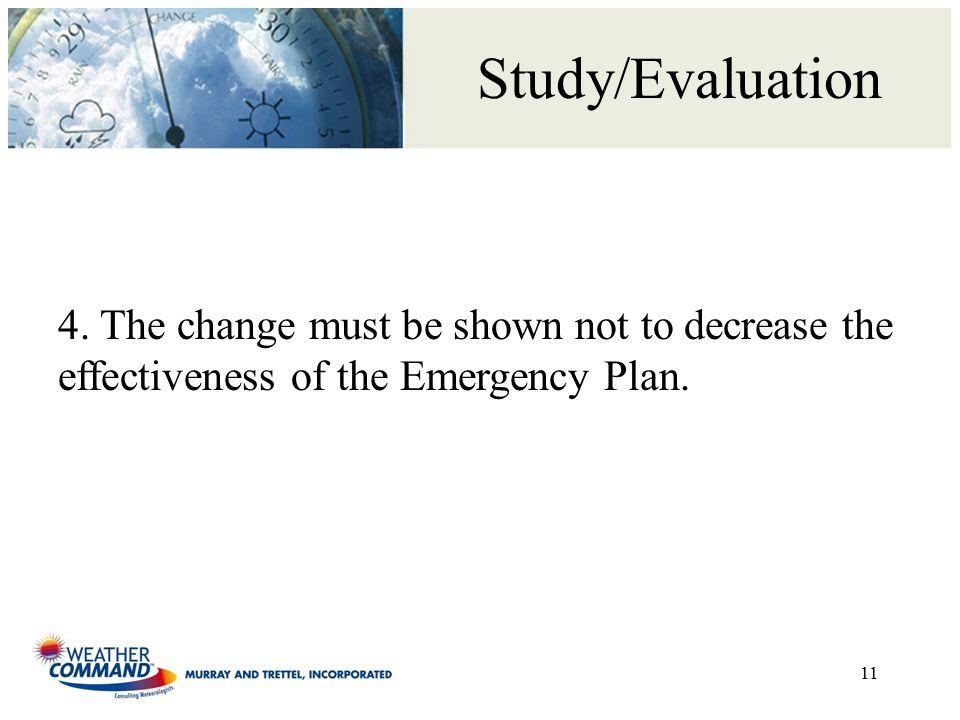 Study/Evaluation 11 4.