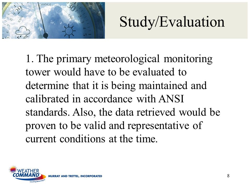 Study/Evaluation 1.