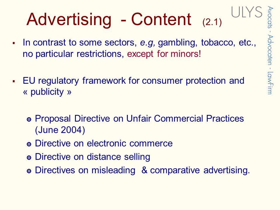 Media & Advertising law
