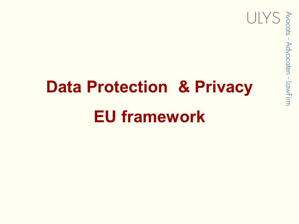 Introduction & overview  Privacy and data protection:  Social network based on profiles  Sensitive data & etnical/religious/sex dating  Advertisin