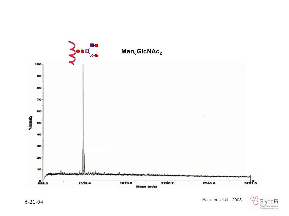 6-21-04 Man 3 GlcNAc 2 Hamilton et al., 2003