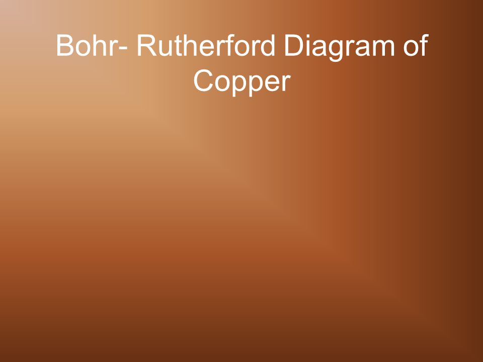 Bohr- Rutherford Diagram of Copper