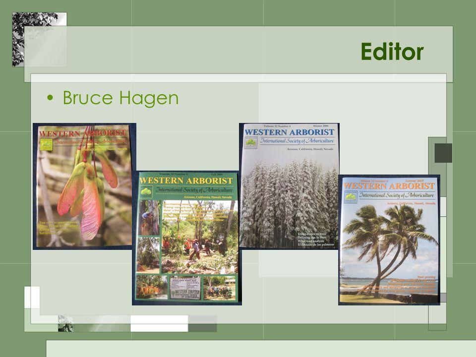 Editor Bruce Hagen