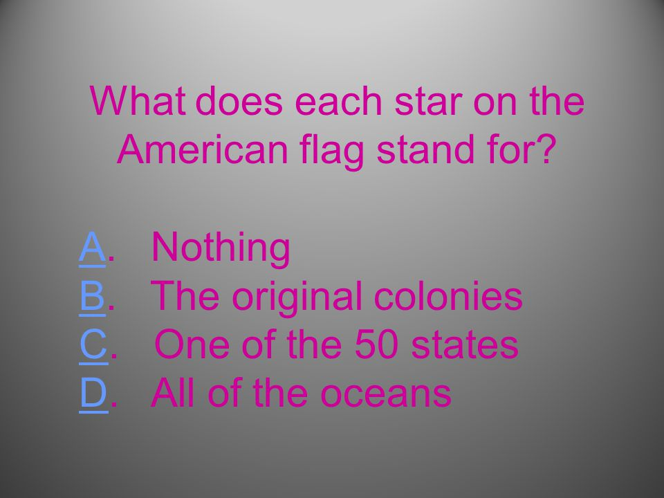 What does each star on the American flag stand for.