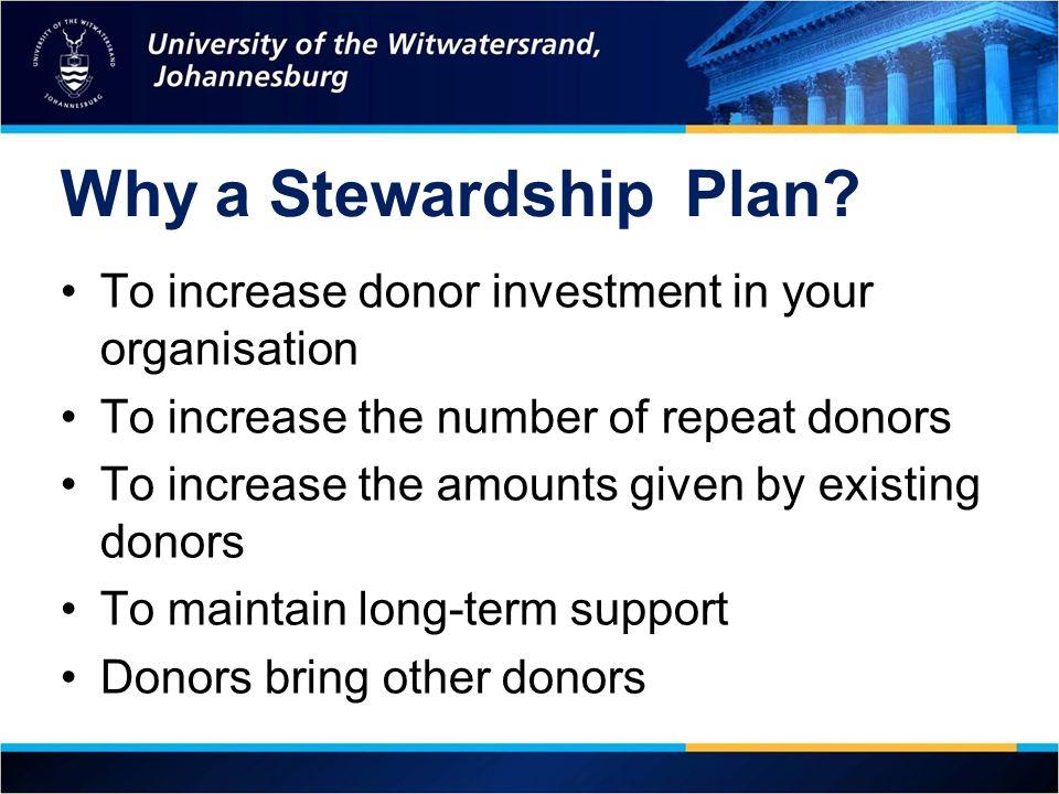 Why a StewardshipPlan.
