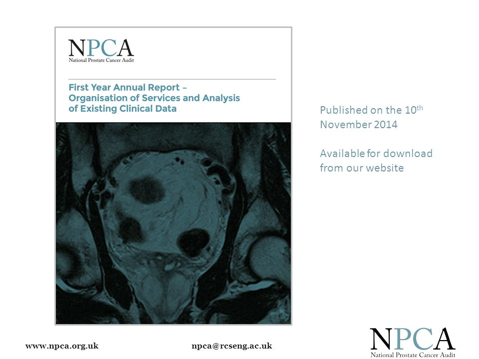 www.npca.org.uk npca@rcseng.ac.uk Published on the 10 th November 2014 Available for download from our website