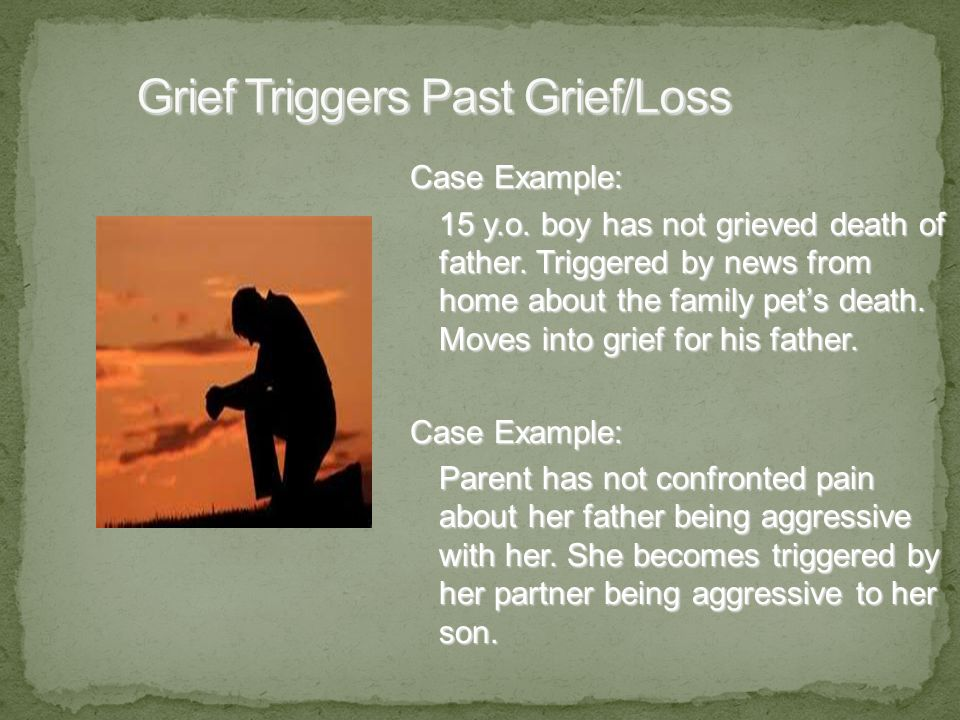 Case Example: 15 y.o. boy has not grieved death of father.