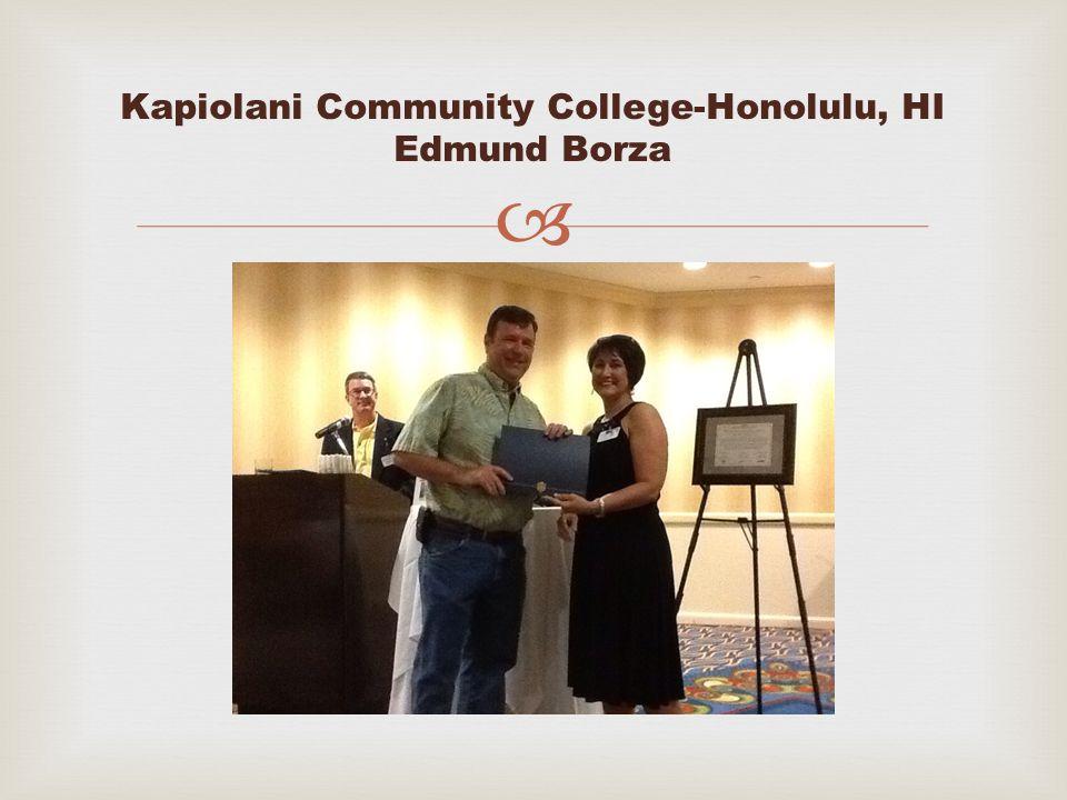  Kapiolani Community College-Honolulu, HI Edmund Borza