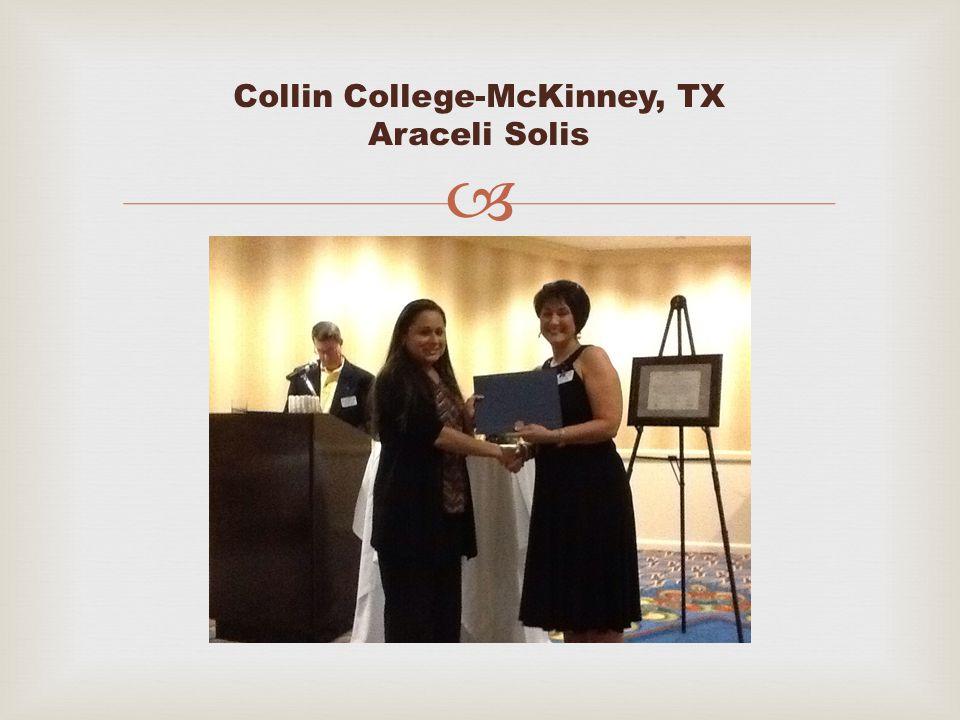  Collin College-McKinney, TX Araceli Solis