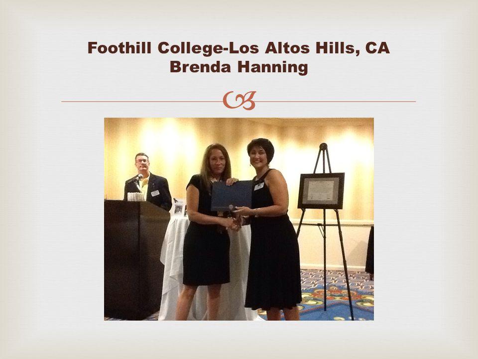  Foothill College-Los Altos Hills, CA Brenda Hanning