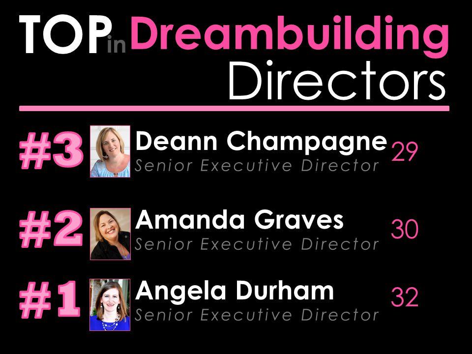 Directors Team Sales TOP in Amanda Graves Senior Executive Director $2,344,667.94 Deann Champagne Senior Executive Director $1,301,581.28 Michelle Beckett Senior Executive Director $1,226,922.33