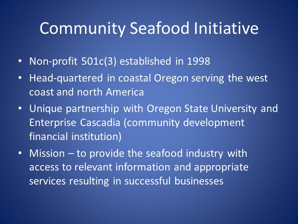 Programs Preserving Seafood-related Working Waterfronts 45° Northwest Fisheries Reports Efis conference(s) Seafood Health Facts North American Fish Trax (Pacific, Gulf and Atlantic Fish Trax)