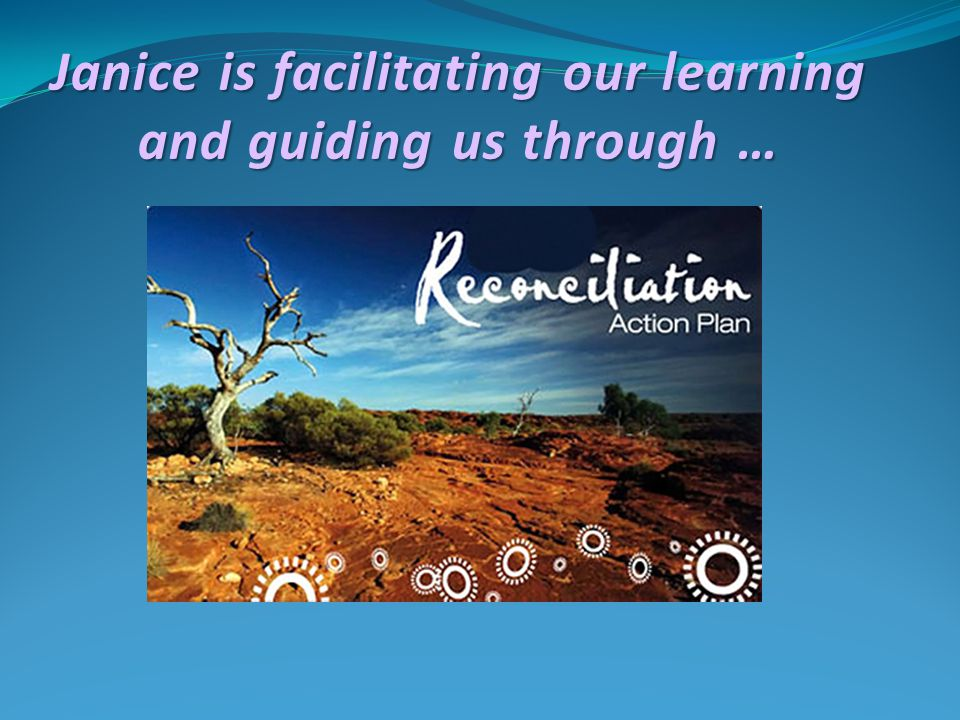 Janice is facilitating our learning and guiding us through …
