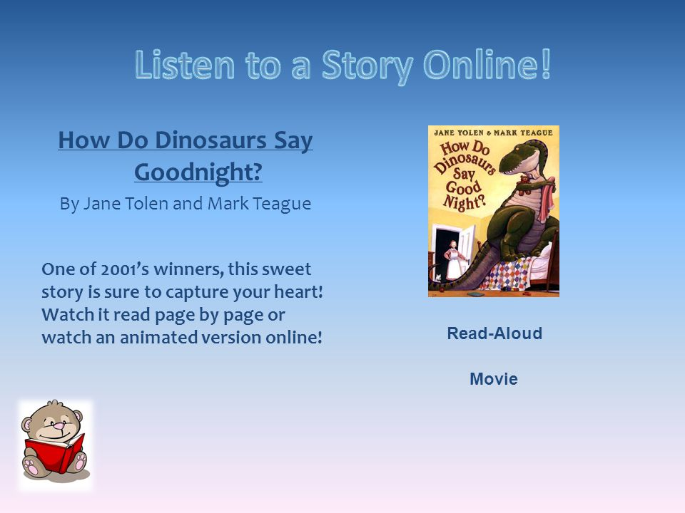 How Do Dinosaurs Say Goodnight.