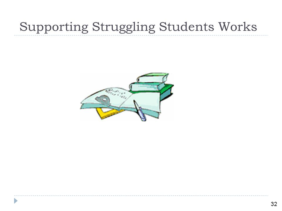 32 Supporting Struggling Students Works