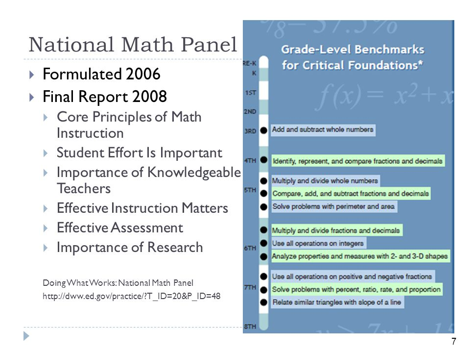 28 Problem Solving Computational and Procedural Skills Conceptual Understanding Where the math works How the math works Why the math works Balanced Instruction Works