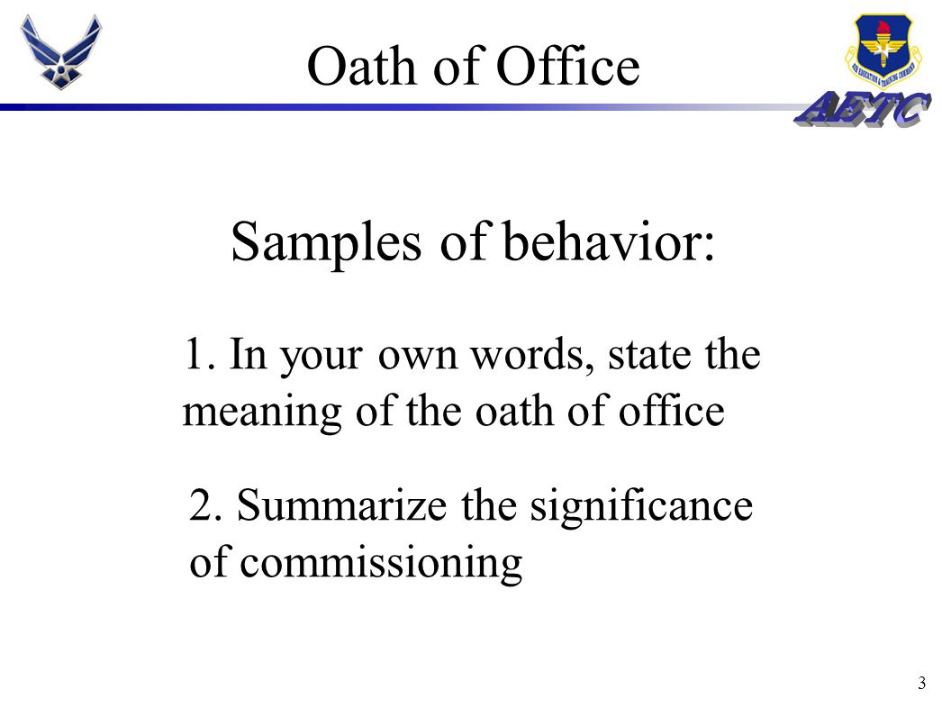 3 Oath of Office 1.
