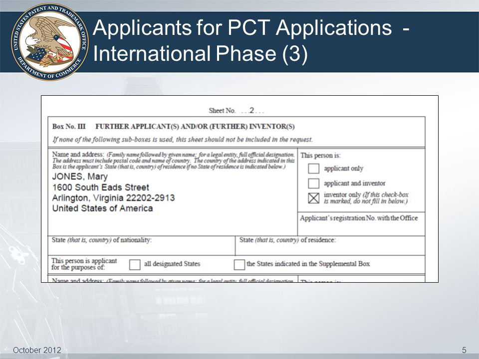 Applicants for PCT Applications - International Phase (3) October 20125