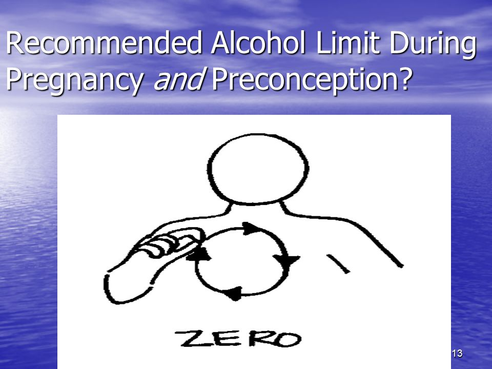 13 Recommended Alcohol Limit During Pregnancy and Preconception?