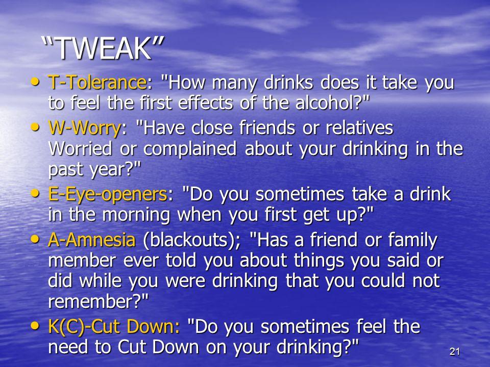 """21 """"TWEAK"""" T-Tolerance:"""
