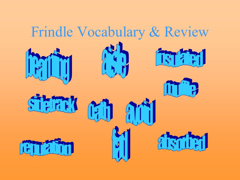 Frindle Vocabulary & Review