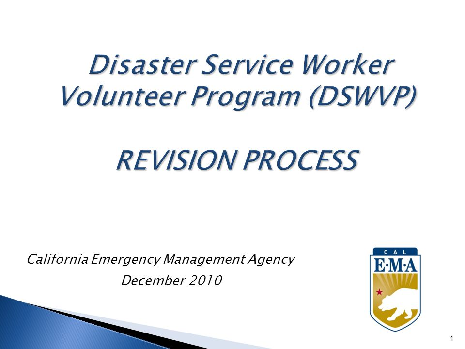 California Emergency Management Agency December 2010 1