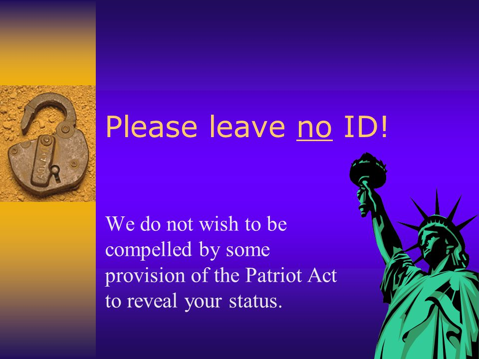 Please leave no ID.