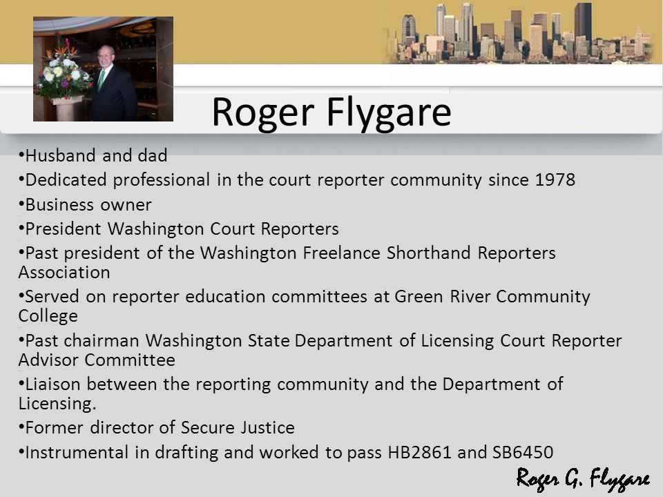 Flygare & Associates Presents Transcripts Today New Rules and Issues