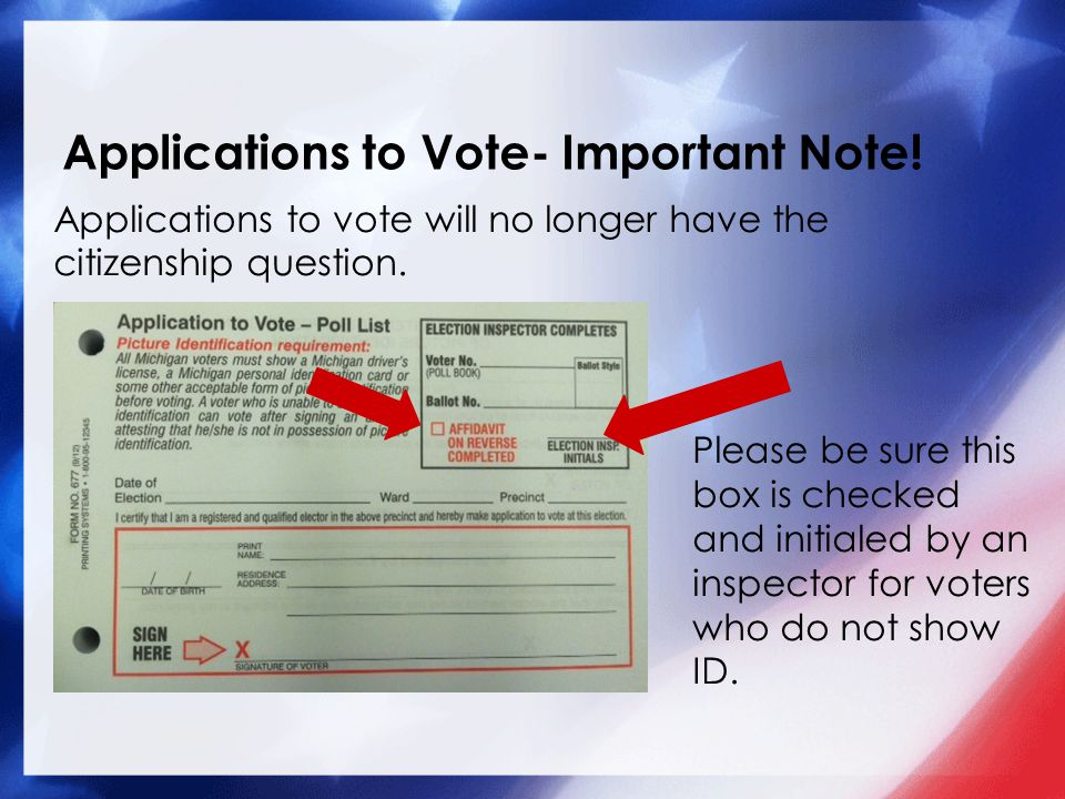 Applications to Vote- Important Note.