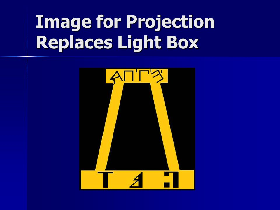 Image for Projection Replaces Light Box