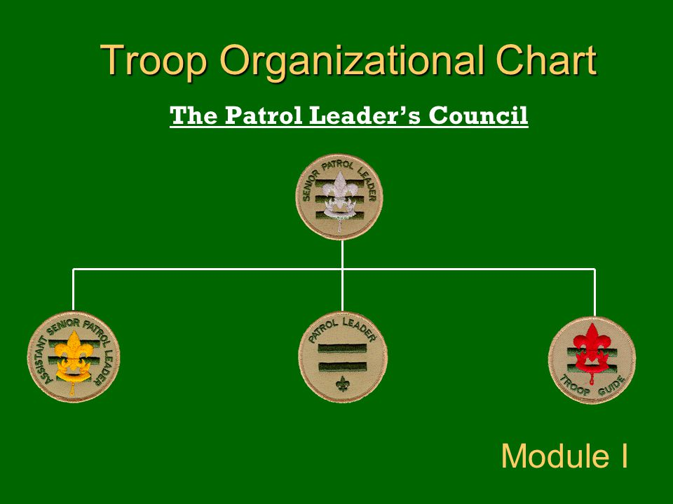 Troop Organizational Chart The Patrol Leader's Council Module I