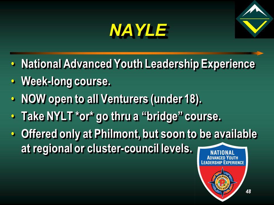 NYLTNYLT National Youth Leadership Training. National Youth Leadership Training.