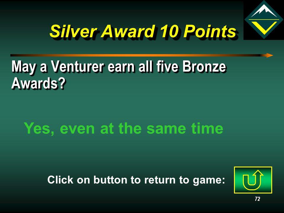 71 Silver AwardRanger AwardQuartermasterGeneral 10 20 30 40 Awards Jeopardy