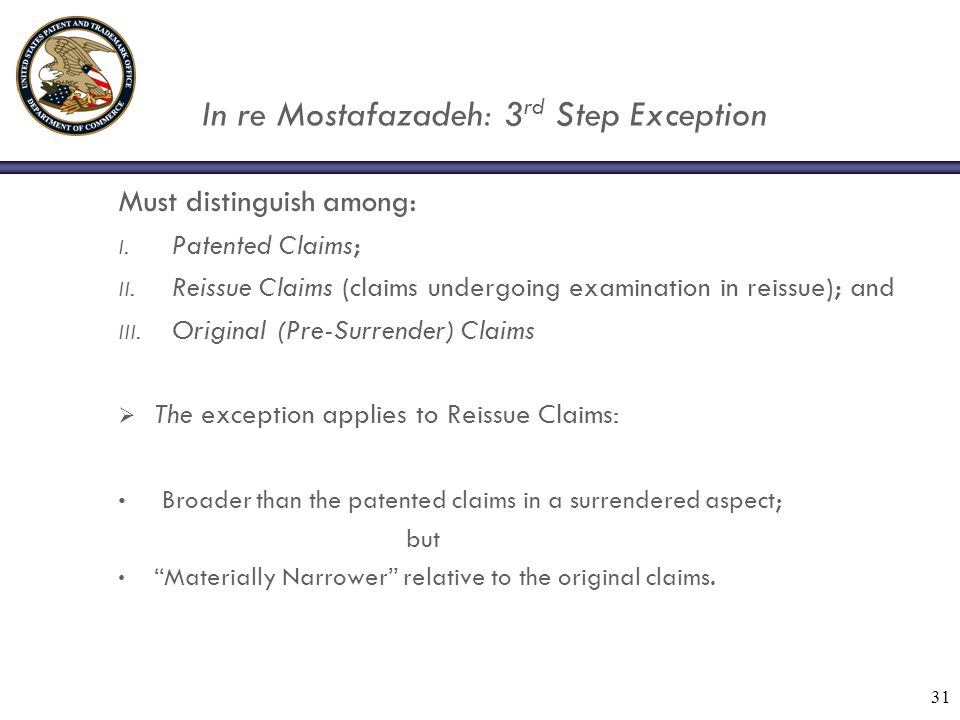 In re Mostafazadeh: 3 rd Step Exception Must distinguish among: I.