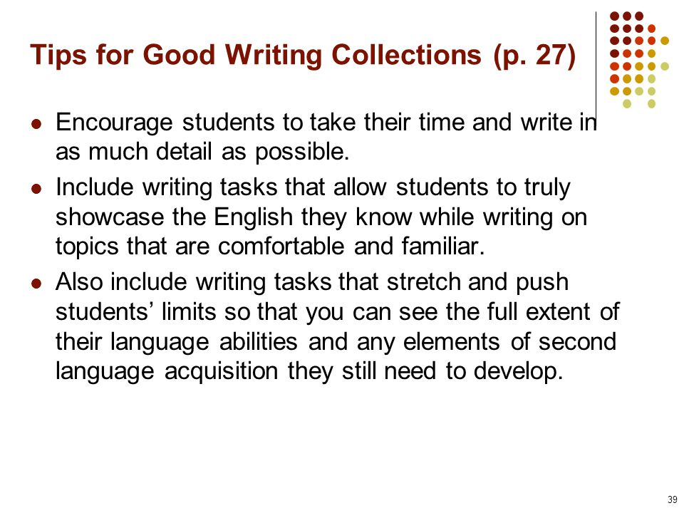 Tips for Good Writing Collections (p.