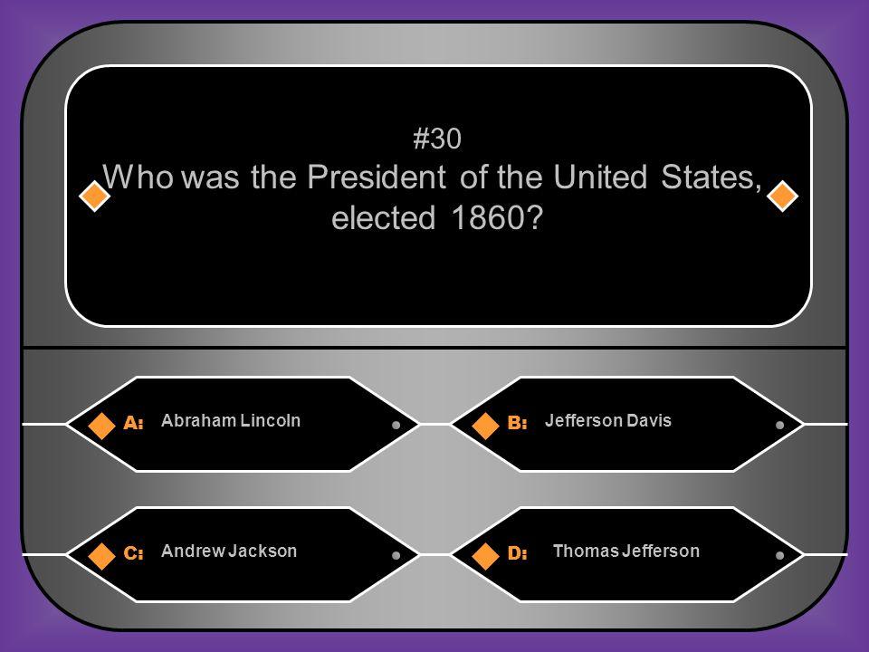 B. Jefferson Davis