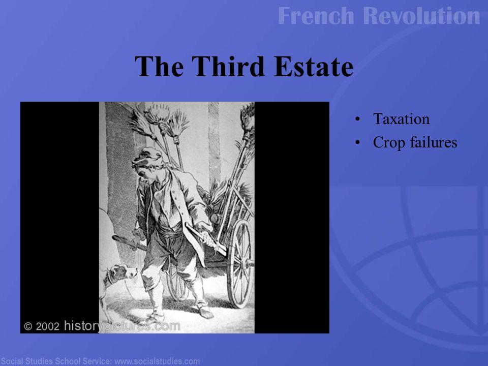 Taxation Crop failures The Third Estate