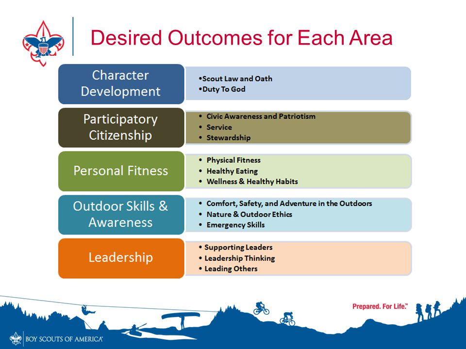 Desired Outcomes for Each Area