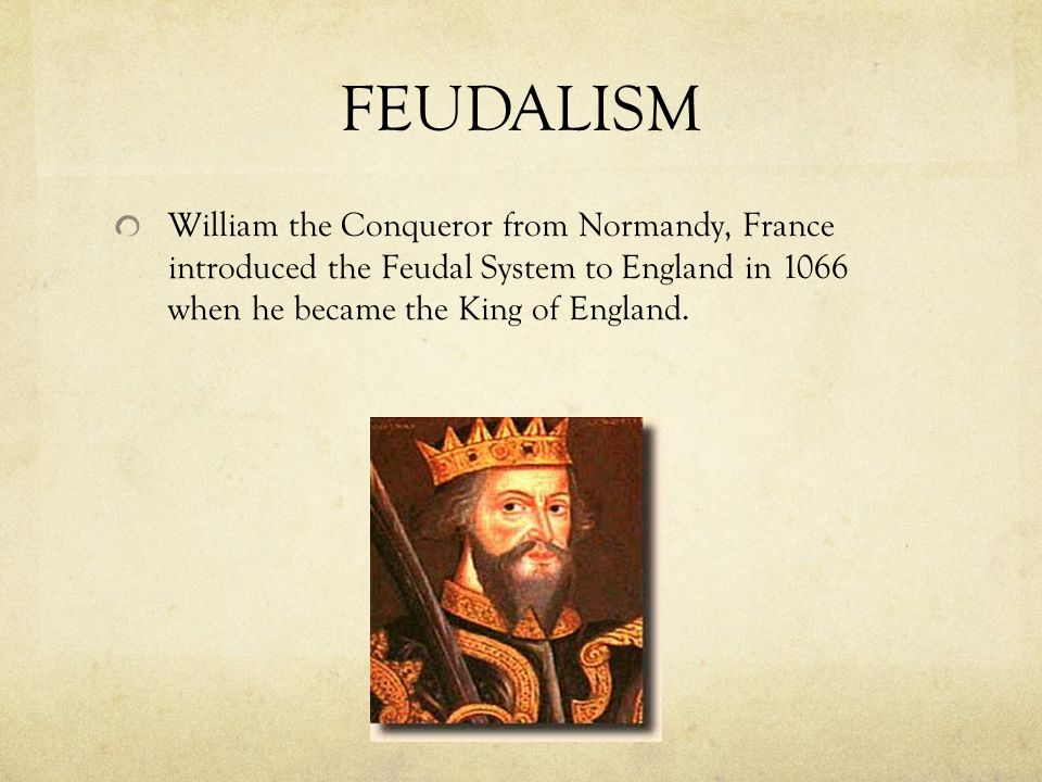 FEUDALISM Was based on the 3 F's Fief – land Fealty – loyalty Faith – religion (Christianity)