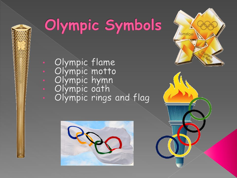 The Olympic Flame evokes the legend of Prometheus, who had stolen fire from Zeus to give it to mortals.