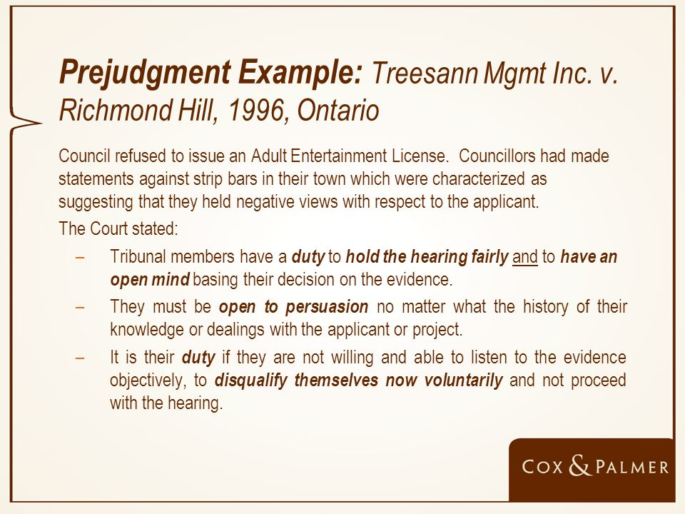 Prejudgment Example: Treesann Mgmt Inc. v.