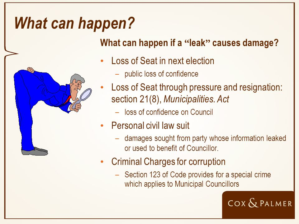 What can happen. What can happen if a leak causes damage.