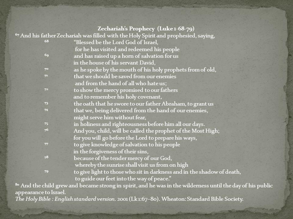 A.68. Visitation. B. 69. Salvation. C. 70. Prophets.