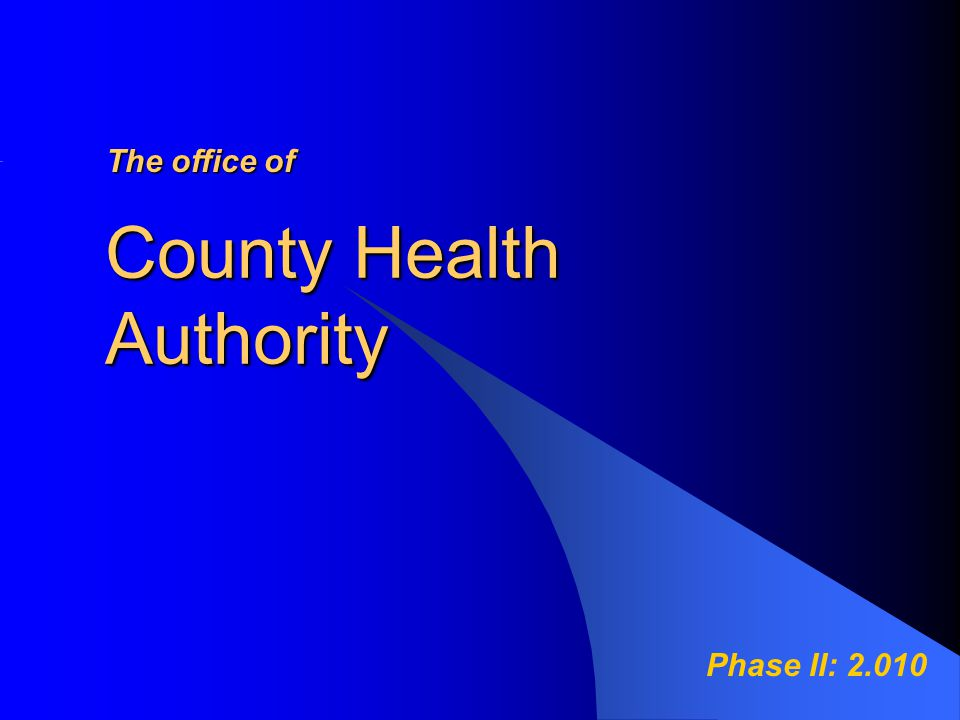 Texas Counties without Local Health Departments A county without a local health department is not obligated to have a local health authority.
