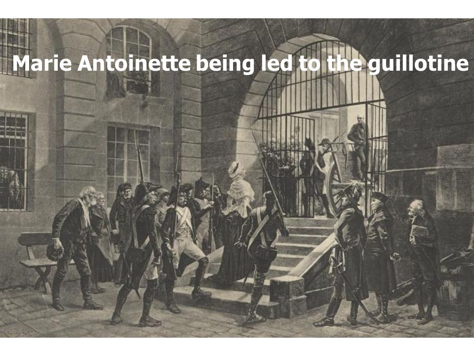 Marie Antoinette being led to the guillotine