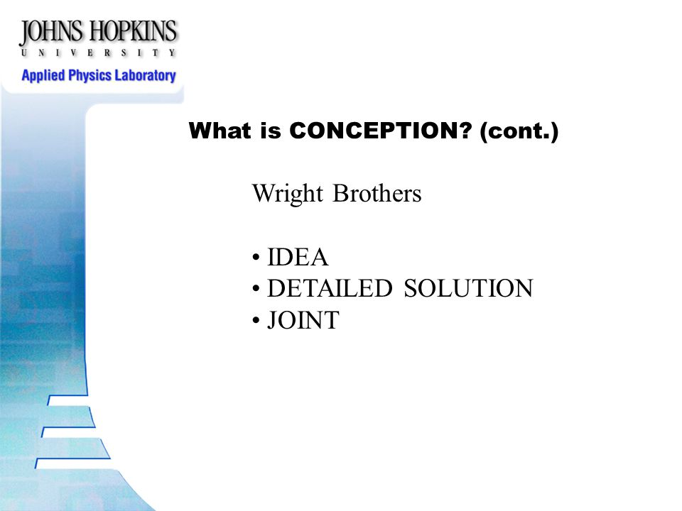 Wright Brothers IDEA DETAILED SOLUTION JOINT
