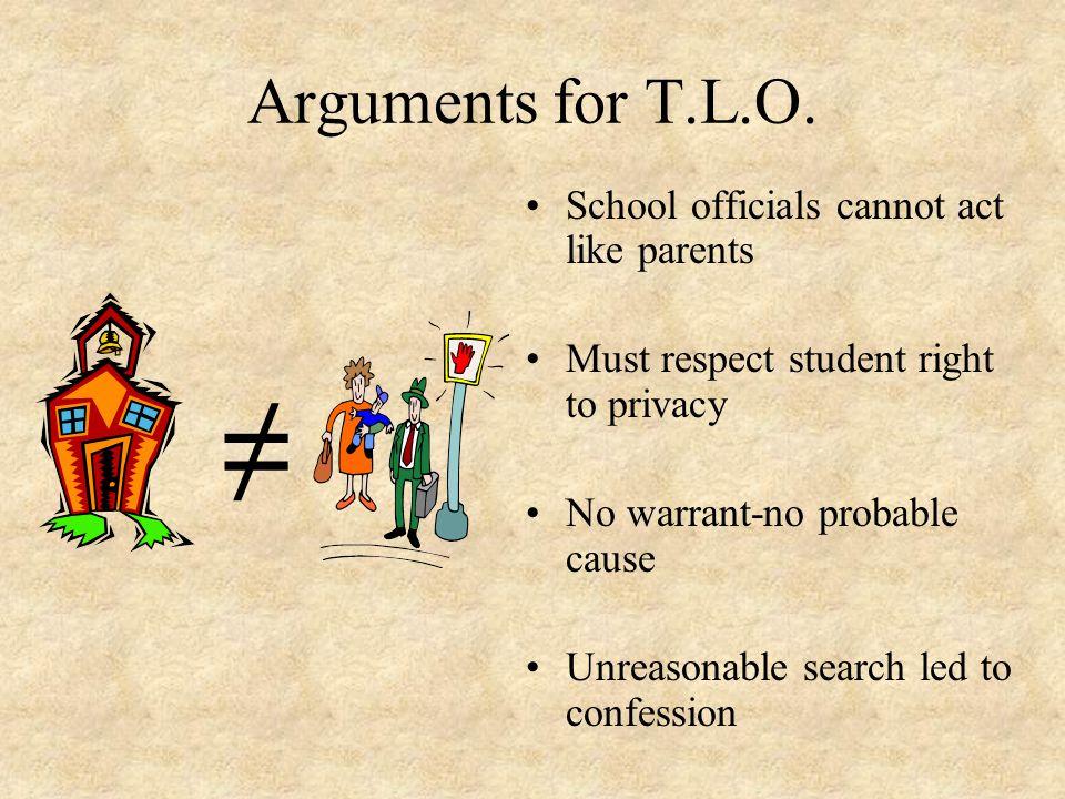 Arguments for T.L.O.