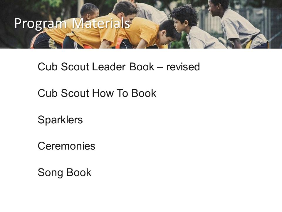 Program Materials Cub Scout Leader Book – revised Cub Scout How To Book Sparklers Ceremonies Song Book