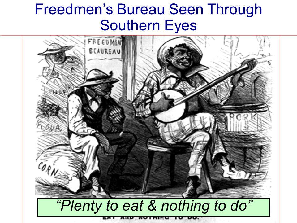 """""""Plenty to eat & nothing to do"""" Freedmen's Bureau Seen Through Southern Eyes"""