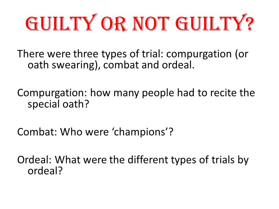 Guilty or not guilty.
